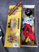 Vintage Pelham Puppets Marionette Golly In Box