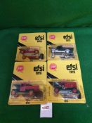 4x EFSI Toys (Holland) Diecast Scale Model Of T-Ford 1919 Comprising Of; #806, #152, #157 & #MT7. On
