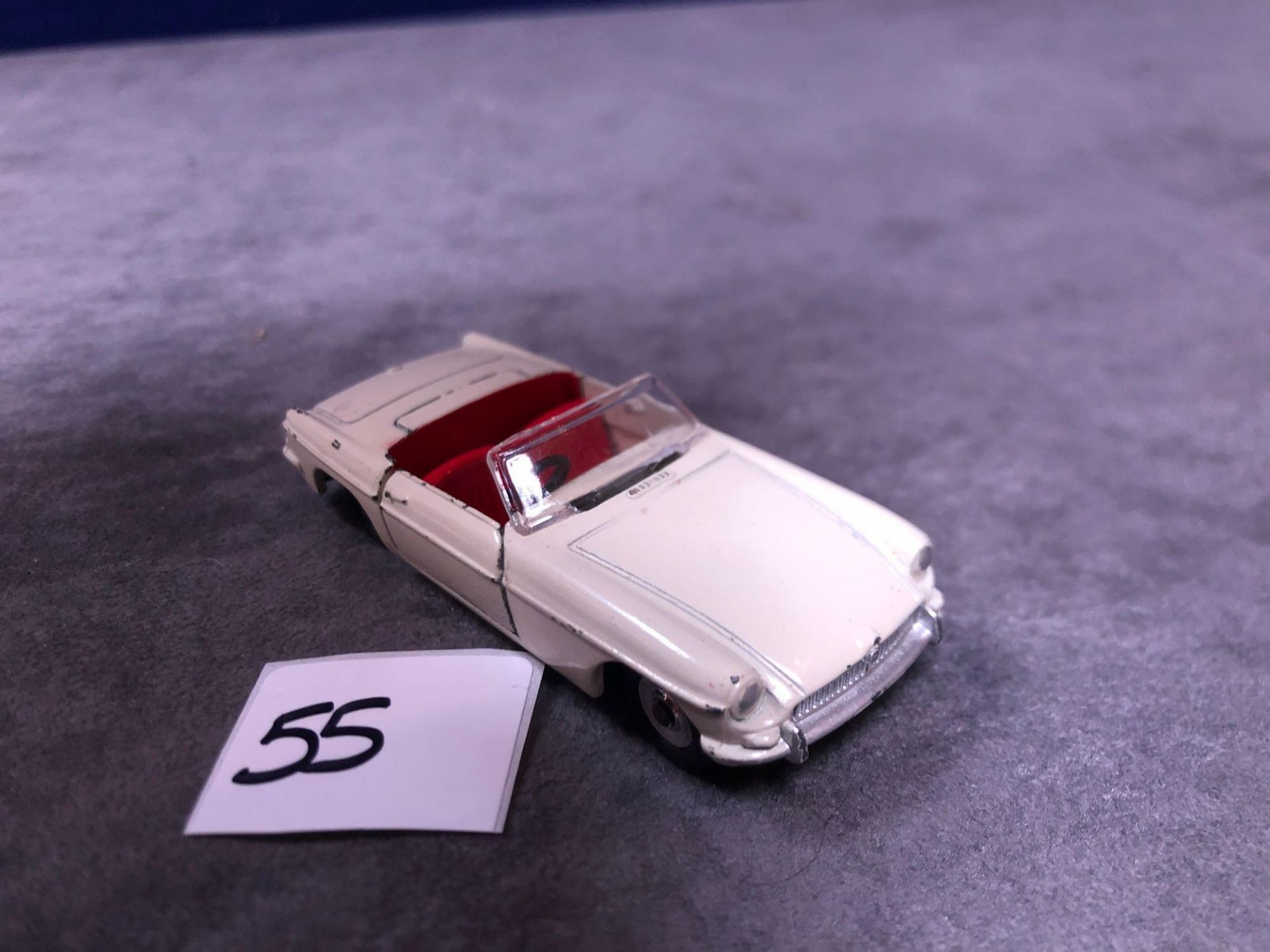 Dinky #113 MGB Cream Red Interior 1962-1968 Unboxed Missing Driver Very Good Model Some Wear But