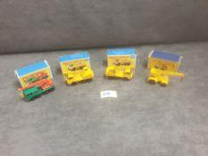 3x Matchbox Diecast cranes all in boxes, Comprising Of; #11c Jumbo crane E Type box, #30c 8 wheel