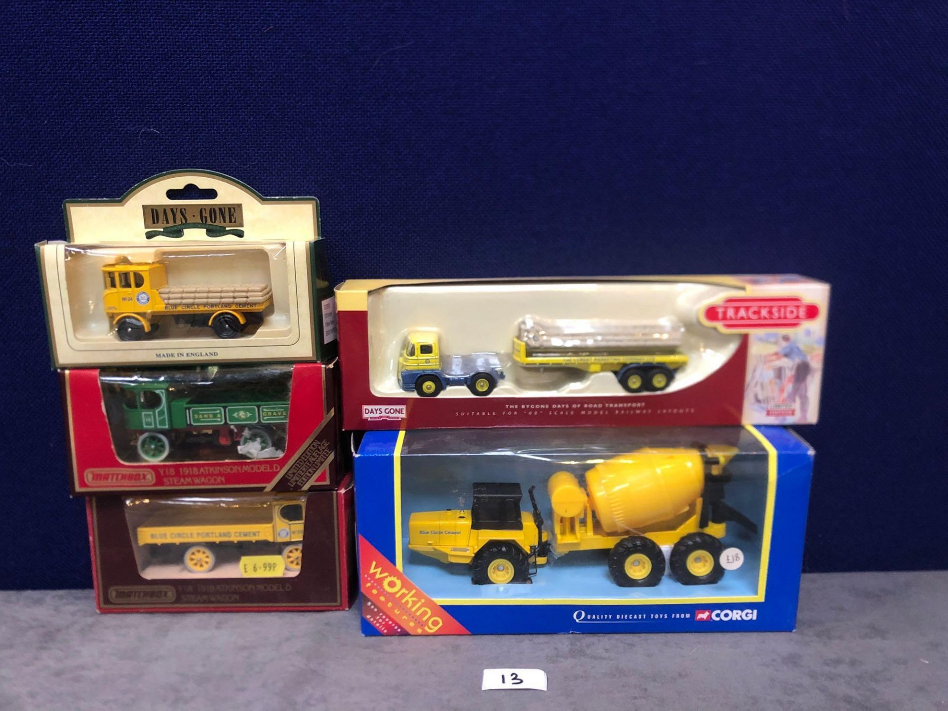 5x Variety Of Construction Vehicles All With Boxes.
