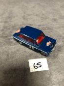 Dinky 214 Hillman Imp Rally Blue - Monte Carlo Rally Version 1966-1969 Unboxed nr mint decals