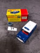 Dinky #273 RAC Patrol Mini Van Blue/White - Red Interior. Virtually Mint Mark On Roof In Excellent
