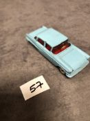 Dinky # 177 Opel Kapitan Blue - Red Interior 1960 - 1966 Unboxed Very Good Model With A Good Shine