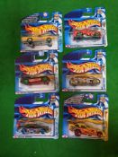 6 X Hot Wheels Carded New Comprising Of Anime Jaguar E Type 2003 #071 Anime Old Aurora 2003 #073