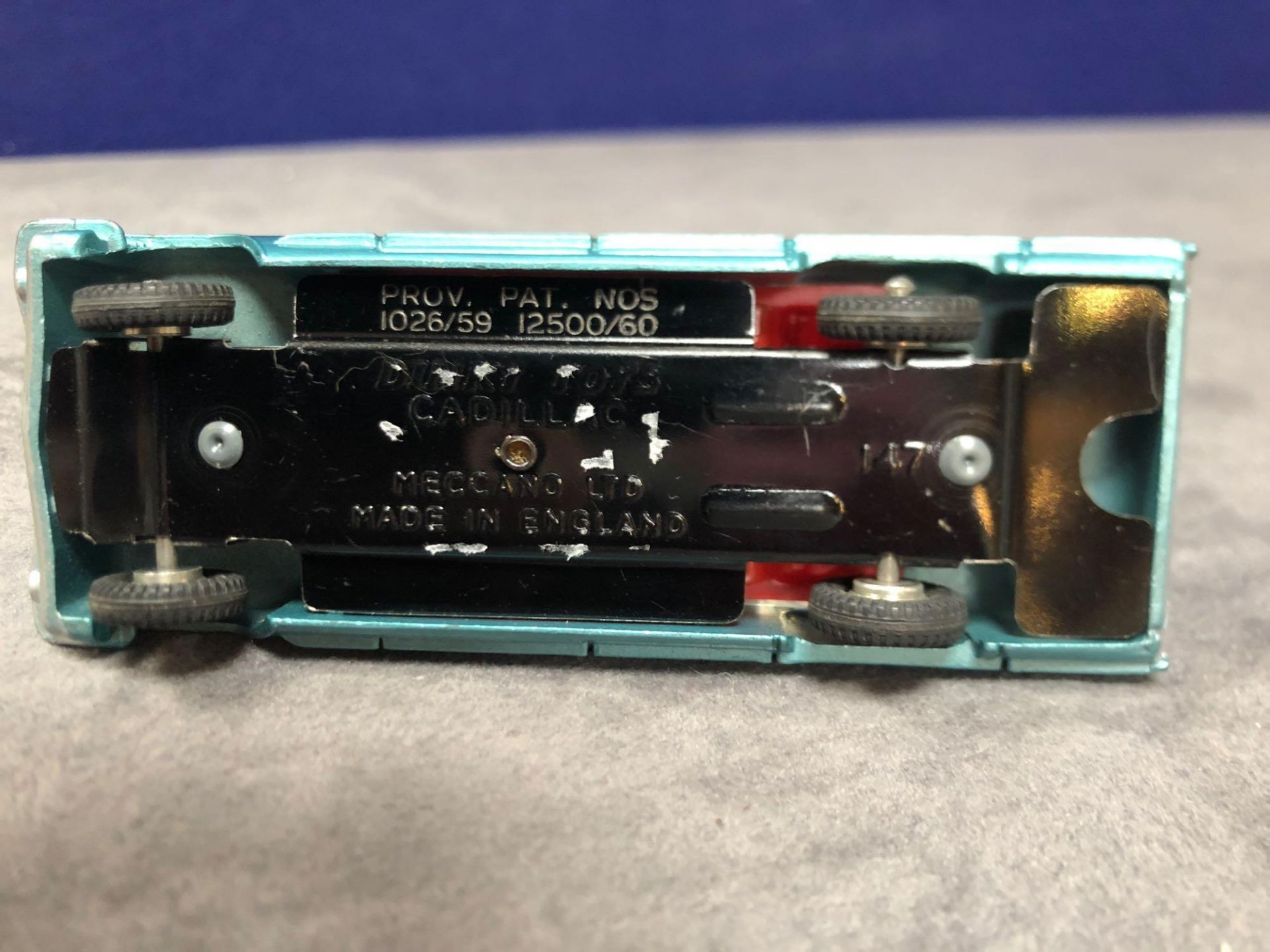 Dinky #147 Cadillac 62 Metallic Green - Red Interior And Spun Hubs 1962-1969. Unboxed Mint Lovely - Image 3 of 4