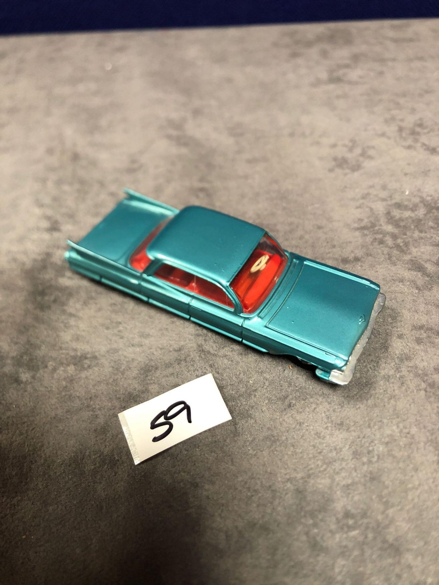 Dinky #147 Cadillac 62 Metallic Green - Red Interior And Spun Hubs 1962-1969. Unboxed Mint Lovely - Image 4 of 4