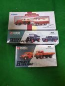 3 X Corgi Classics Diecast Vehicles Comprising Of #16601 Scammell Model Ell and Land Rover Set