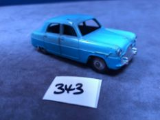 Dinky #162 Ford Zephyr In Two Tone Blue Grey Hubs Very Good Condition Unboxed 1956-1960