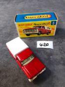 Matchbox Superfast Diecast #6 Ford Pickup Truck Rarer Green Base Mint Superb Paint With Firm Box