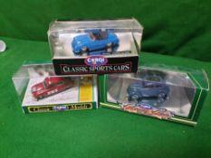 A Set Of 3 X Corgi Models Comprising Of #D7121 Corgi D712/1 Saab 96 1963 Monte Carlo Rally #C701-1