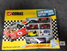 Corgi Juniors Gift Set #3020 Club Racing A Rare Find, This Desirable Club Racing Gift Set