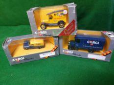 A Set Of 3 X Corgi Classics Diecast Vehicles Comprising Of #52281 Corgi Classics C923; 1929