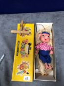 Vintage Pelham Puppets Marionette Type Ss Pinky In Box