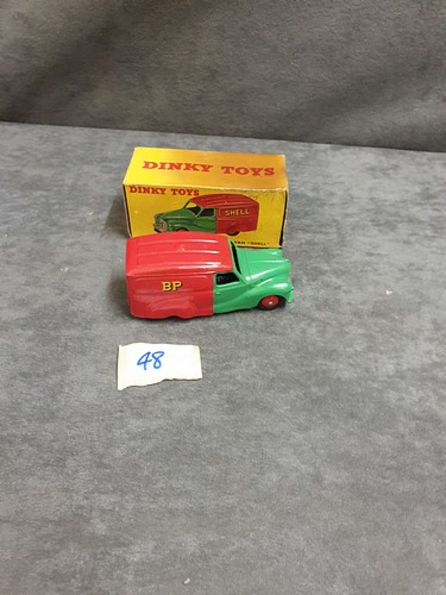 Dinky #470 Austin Van Shell Virtually Mint Model In Very Good Soiled Firm Box 1954 - 1956
