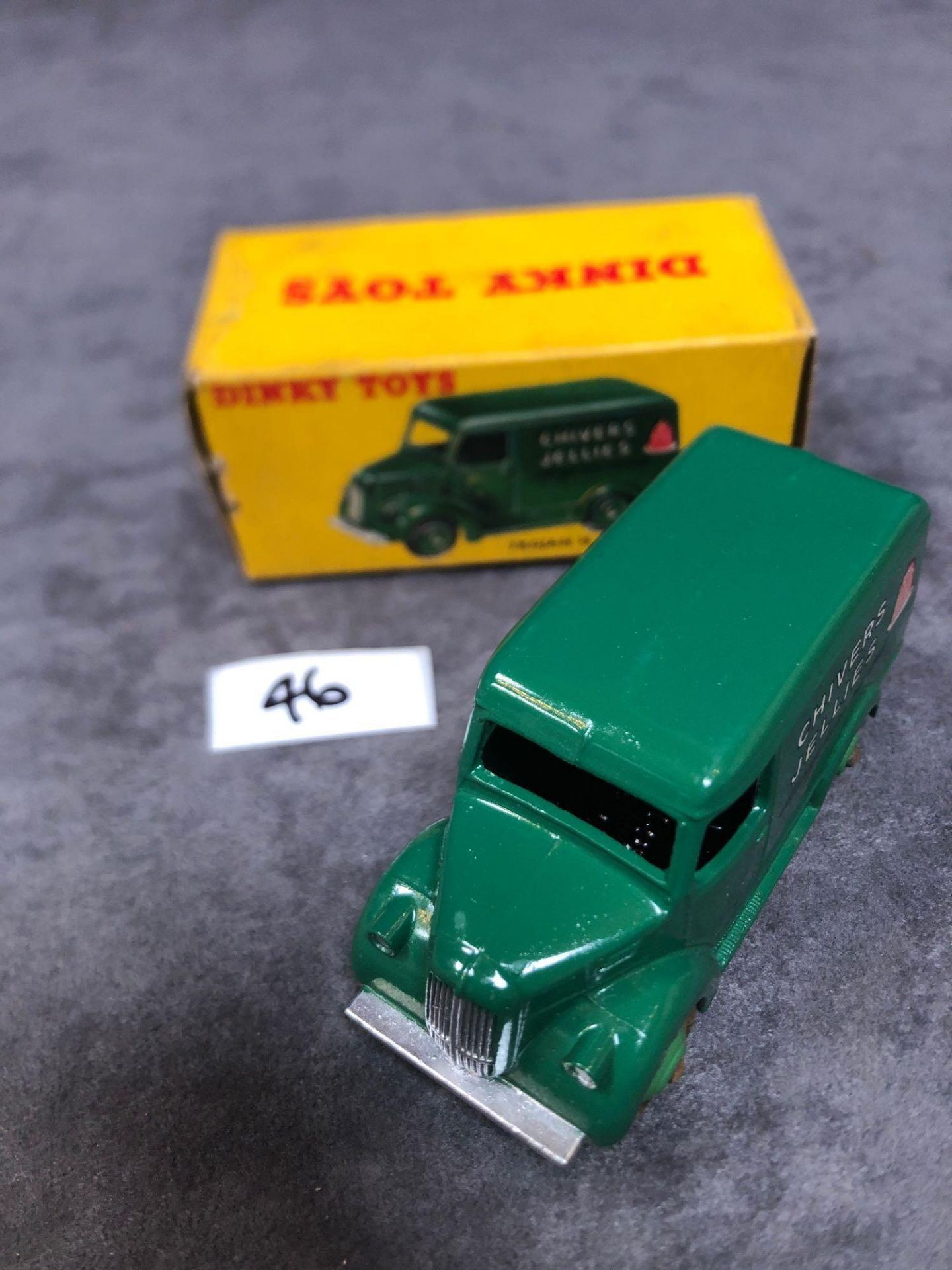 Dinky #452 Trojan 15cwt Van (Chivers) Green Model Is Mint Has A Slight Mark On Roof In A Solid