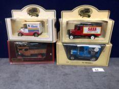4x Diecast Vehicles Advertising Kleenex / Saxa Table Salt/ Tate And Lyle Sugar / Cerelos Table Salt.