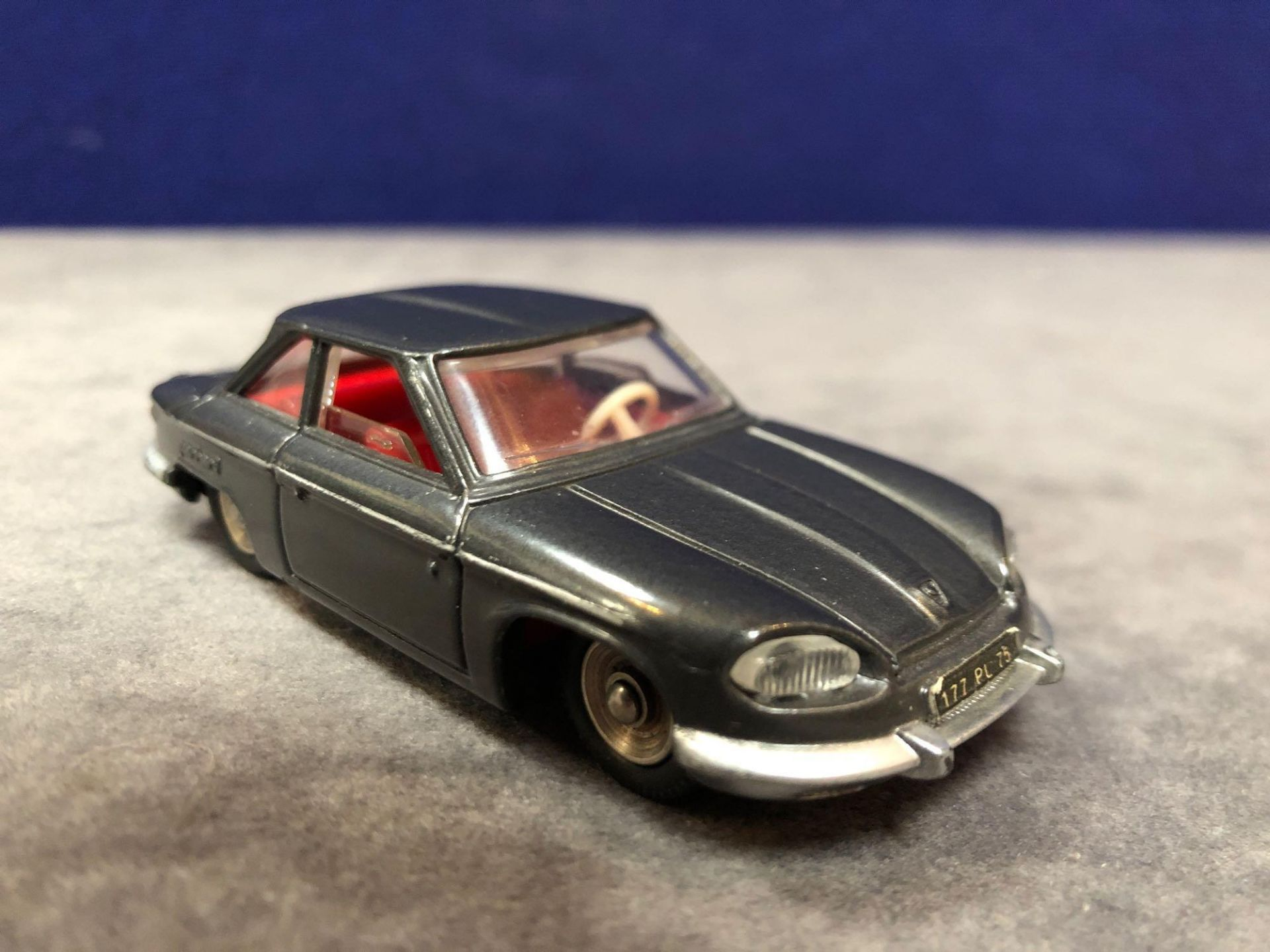 Dinky (France) Diecast #524 Panhard CT24 Coupe In Grey Mint In A Top Quality Repro Box 1964-1966 - Image 2 of 4