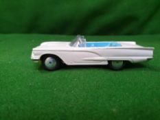 Corgi #215 Ford Thunderbird Light Grey With Blue And Silver Interior Unboxed 1958- 1961 Great