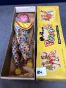 Vintage Pelham Puppets Marionette Clown In A Box