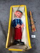 Vintage Pelham Puppets Marionette Boy In Damaged Box