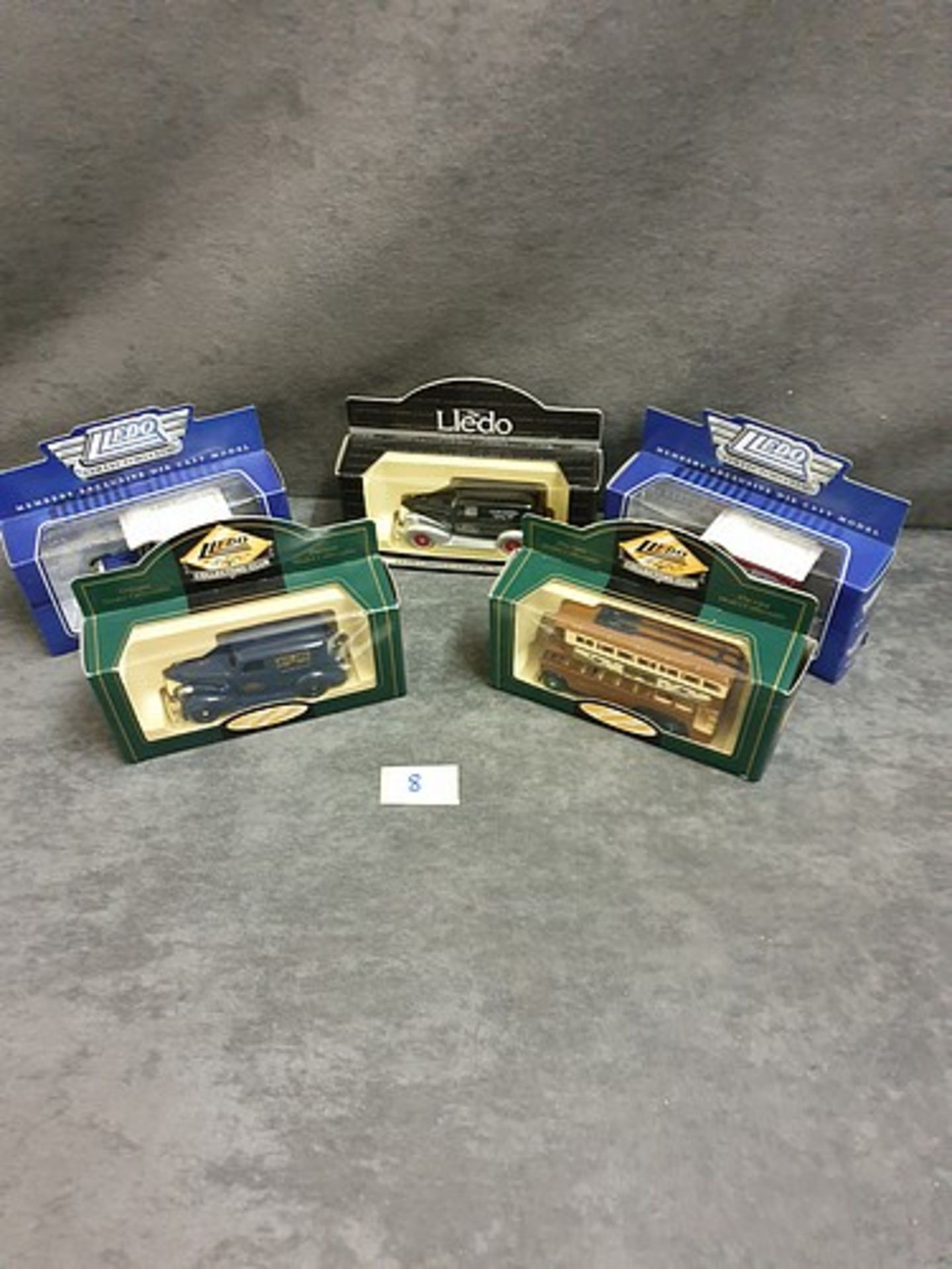 5x Lledo Diecast Vehicles Individually Boxed Advertising Lledo Days Gone.
