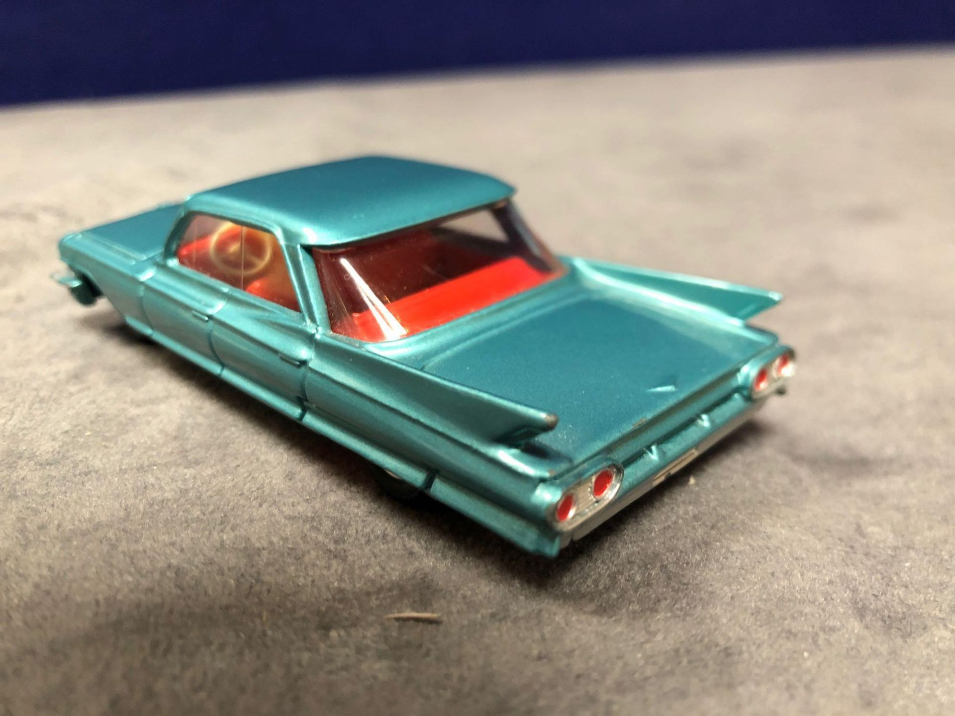 Dinky #147 Cadillac 62 Metallic Green - Red Interior And Spun Hubs 1962-1969. Unboxed Mint Lovely - Image 2 of 4