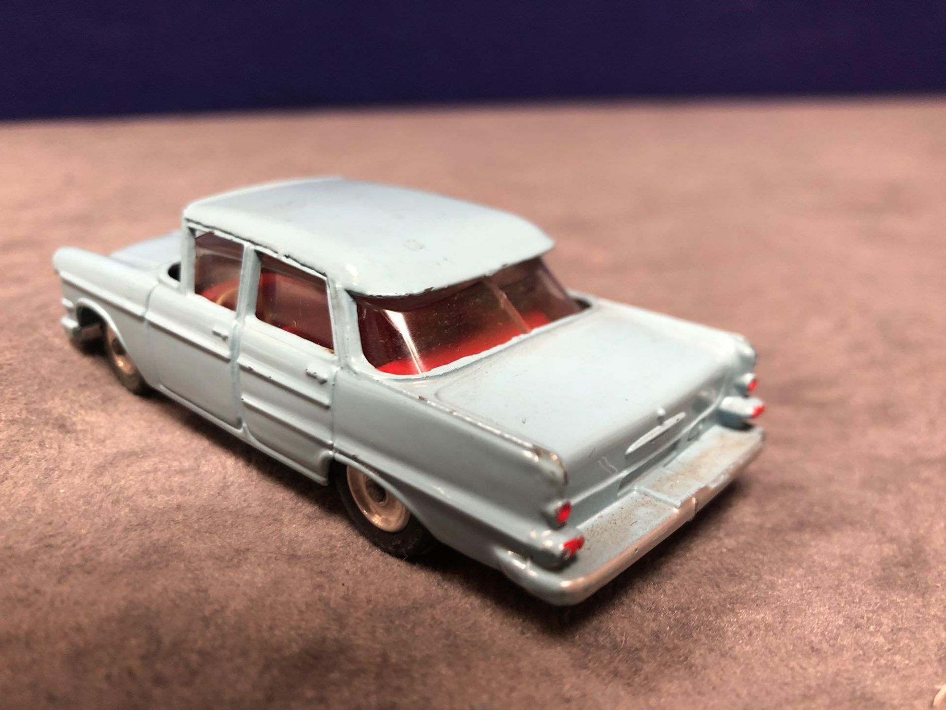 Dinky # 177 Opel Kapitan Blue - Red Interior 1960 - 1966 Unboxed Very Good Model With A Good Shine - Image 3 of 4
