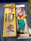 A Quite Hard To Find Vintage Pelham Puppets Marionette Old Man In Box