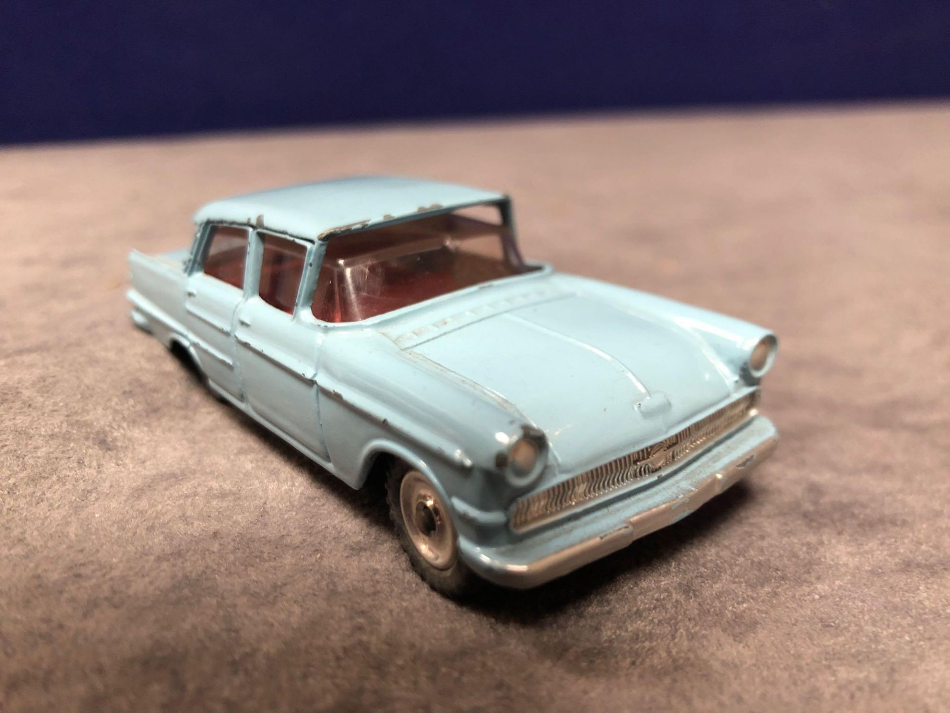 Dinky # 177 Opel Kapitan Blue - Red Interior 1960 - 1966 Unboxed Very Good Model With A Good Shine - Image 2 of 4
