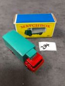 Matchbox Lesney #44c GMC Refrigerator Red/Turquoise Very Nice Rarer Version With Brown Headlights