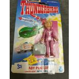 Matchbox Thunderbirds #TB-755 Lady Penelope London Agent With Travel Bag On Unopened Card