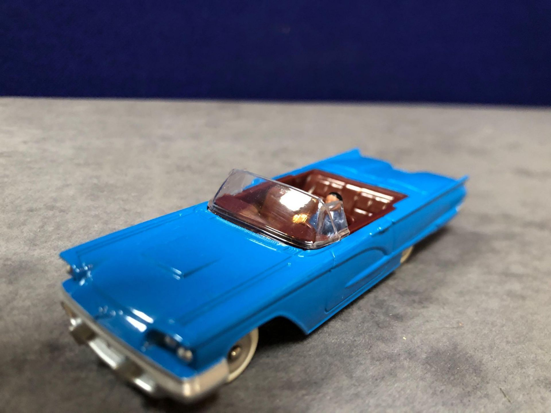 Dinky (Norev Edition) Diecast #555 Ford Thunderbird In Blue Mint In Box 1966 - Image 2 of 3