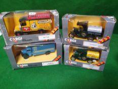A Set Of 4 X Corgi Classics Diecast Models Comprising Of #C864/1 Corgi Classics Ford Model T