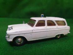 Corgi #419 Rare Ford Zephyr Motorway Patrol Car Cream Red Interior Spun Hubs Unboxed In Good Overall