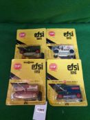 4x EFSI Toys (Holland) Diecast Scale Model Of T-Ford 1919 Comprising Of; #MT12, #MT10, #MT6, On