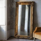 Carved Louis Leaner Mirror Gold Sumptuously extravagant hand made baroque framed mirror in a gold