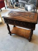 Century Furniture Jacobean Side Table A Stunning Reproduction Jacobean Side Table Features A Planked