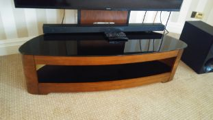 Television Stand With Black Glass Top 124 x 68 x 120cm