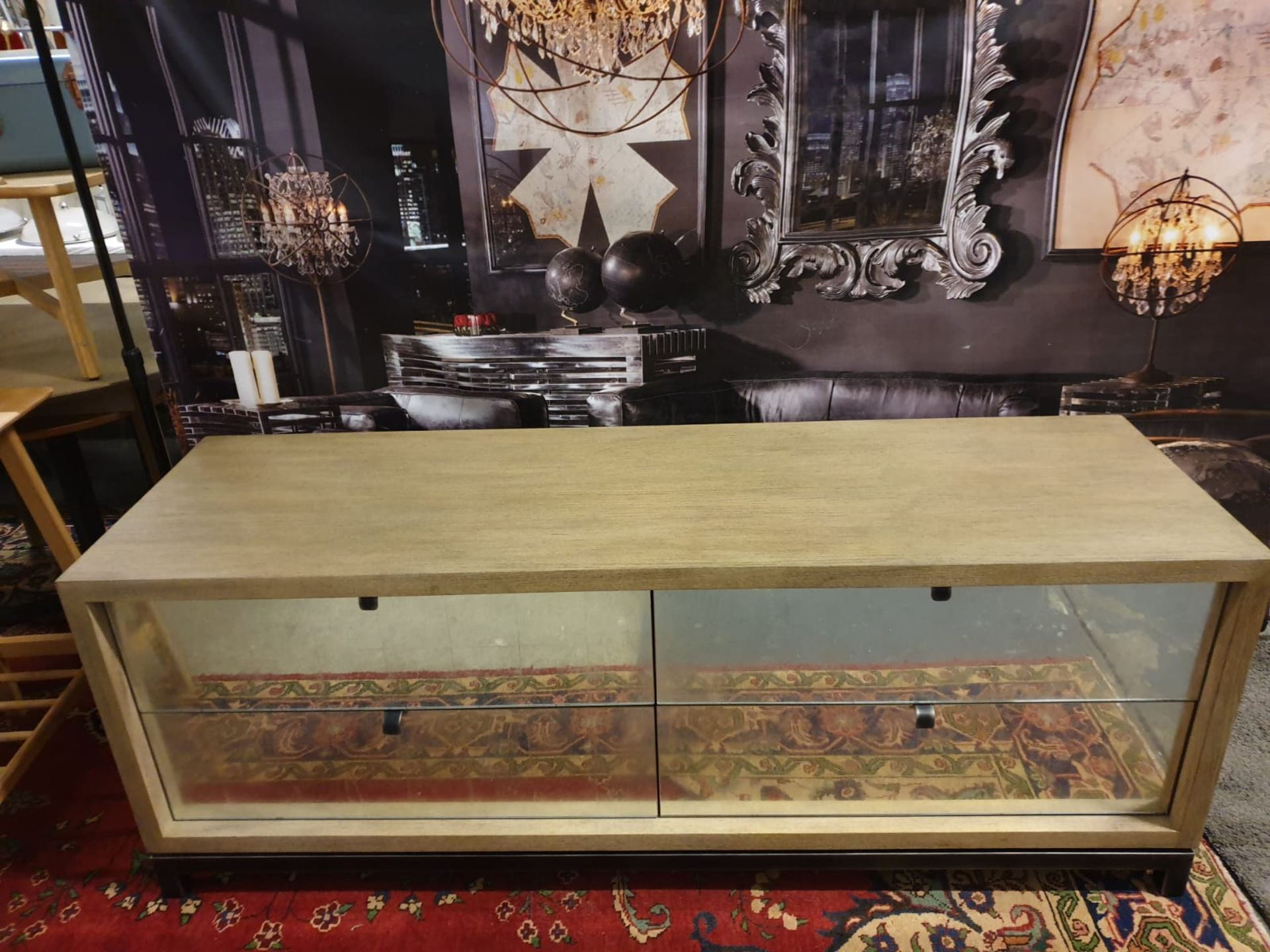 Miguel Dresser 4 Drawer For Renowned Designer Thomas Bina It Is The Bold And Unusual Blending Of - Image 2 of 3