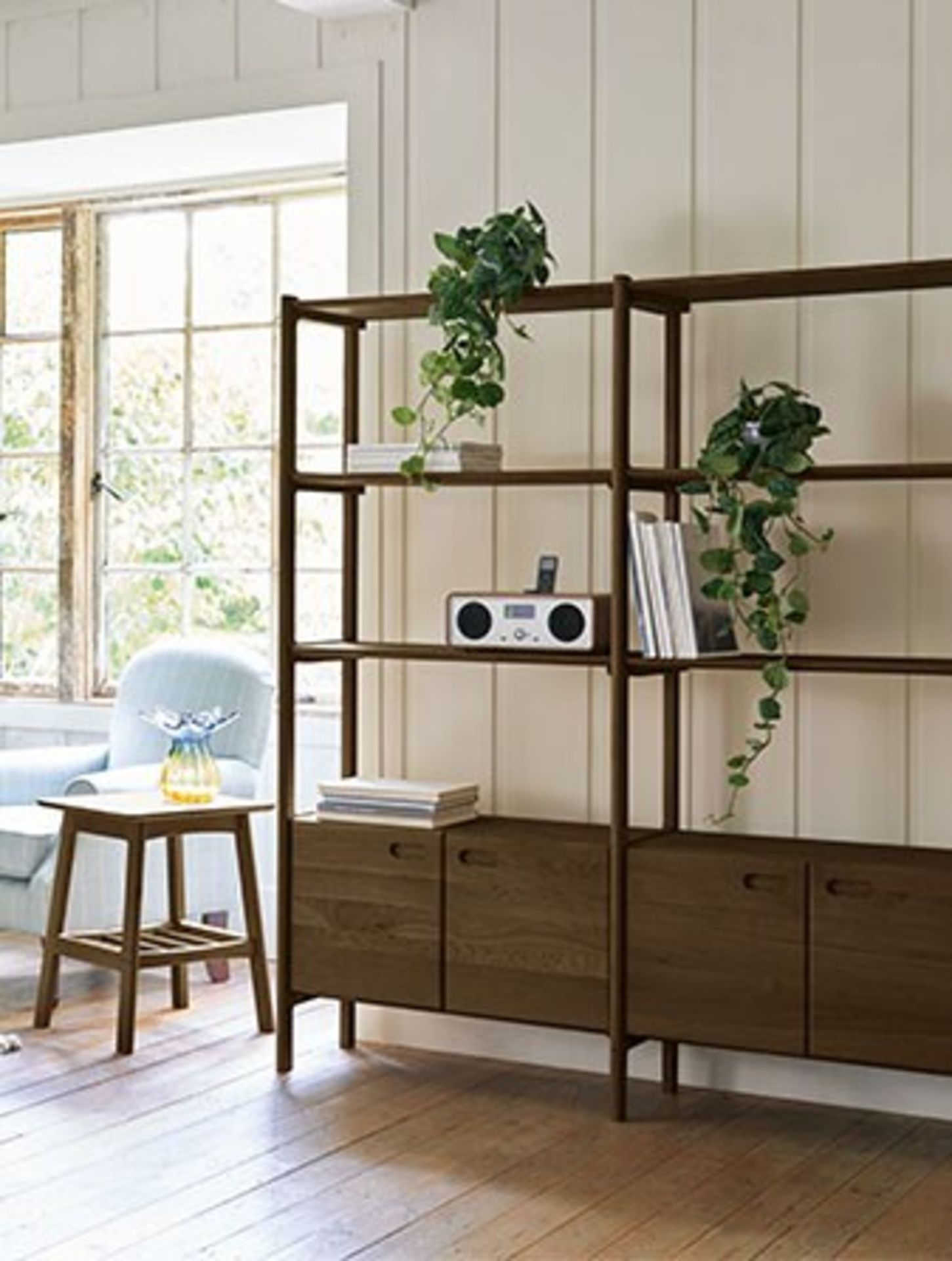 Laura Ashley Hazlemere Walnut 2 Door Single Bookcase Taking inspiration from the iconic furniture