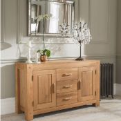 Oregon 3 Drawer 2 Door Sideboard The Beautiful Oregon Oak 3 Drawer 2 Door Sideboard From Halo Has