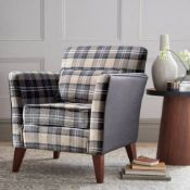 Compton accent chair is influenced by the Glens of Scotland with its warm and welcoming charm. All