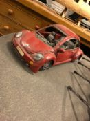 VW Beetle tin plate car model