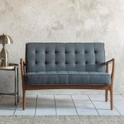 Humber 2 Seater Sofa Dark Grey LinenThis Humber two seater sofa stands out from the crowd with its