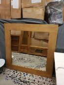 Marbello Rustic Wood Square Mirror To Inspire A Natural Look This Mirrors Rustic Frame Is Crafted