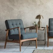 Humber Armchair - Dark Grey Linen Sit back in style on this Humber Dark Grey Armchair. Upholstered