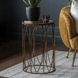 Highgate Side Table A stylish and practical side table with an antiqued glass top in a bronze effect