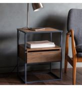 A Pair of Balham Smoked Side Tables This fabulous solid oak side table will add a sense of