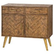 Havana Gold 2 Door 2 Drawer Sideboard. Part of a capsule collection designed to deliver a